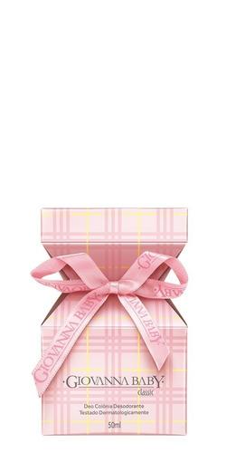 deo colônia giovanna baby classic rosa de 50ml