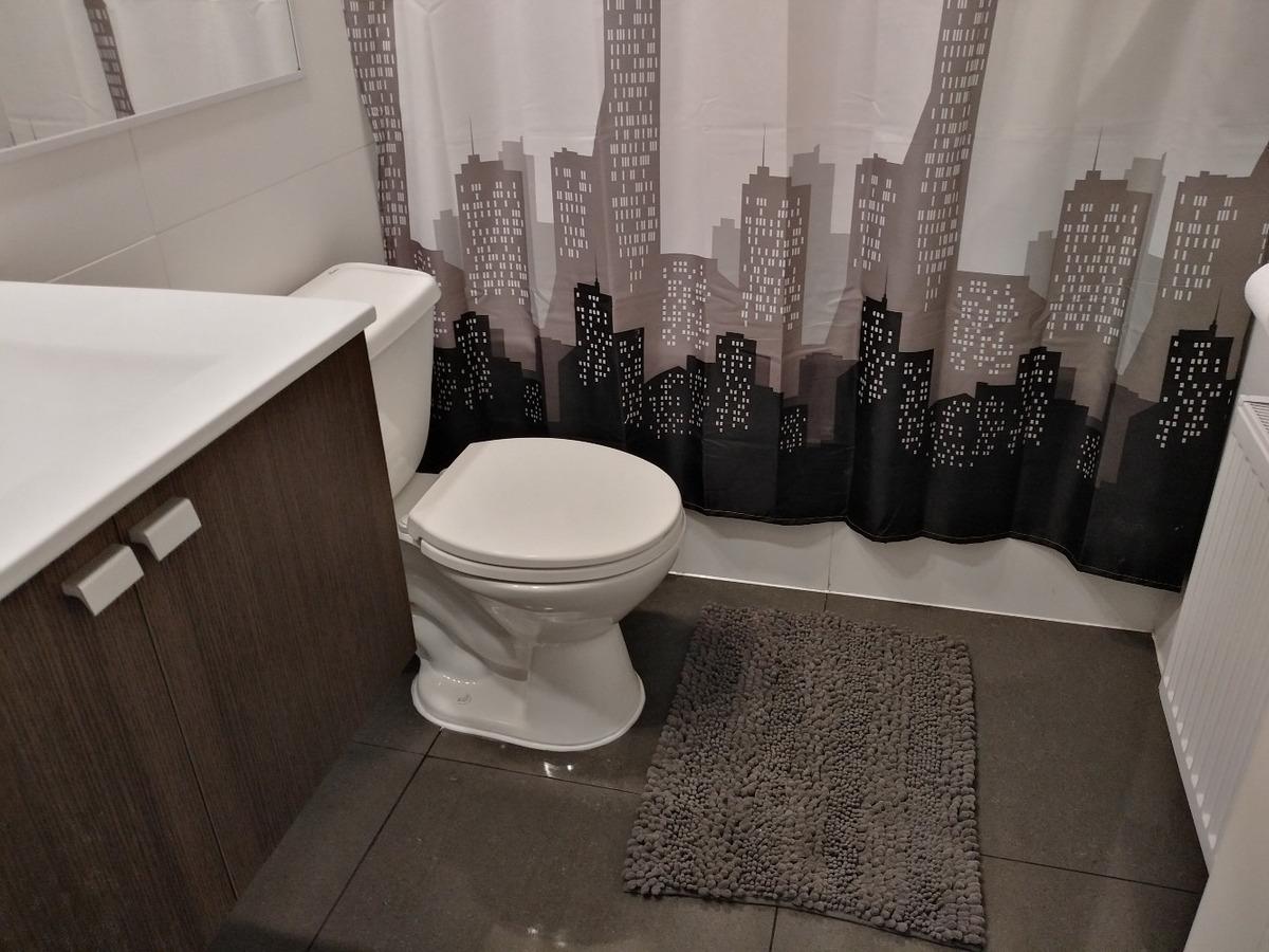 departamento 1 ambiente, 1 baño, full equipado, seguridad.