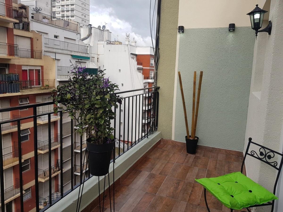 departamento 1 ambiente a la calle con balcon terraza en venta mar del plata