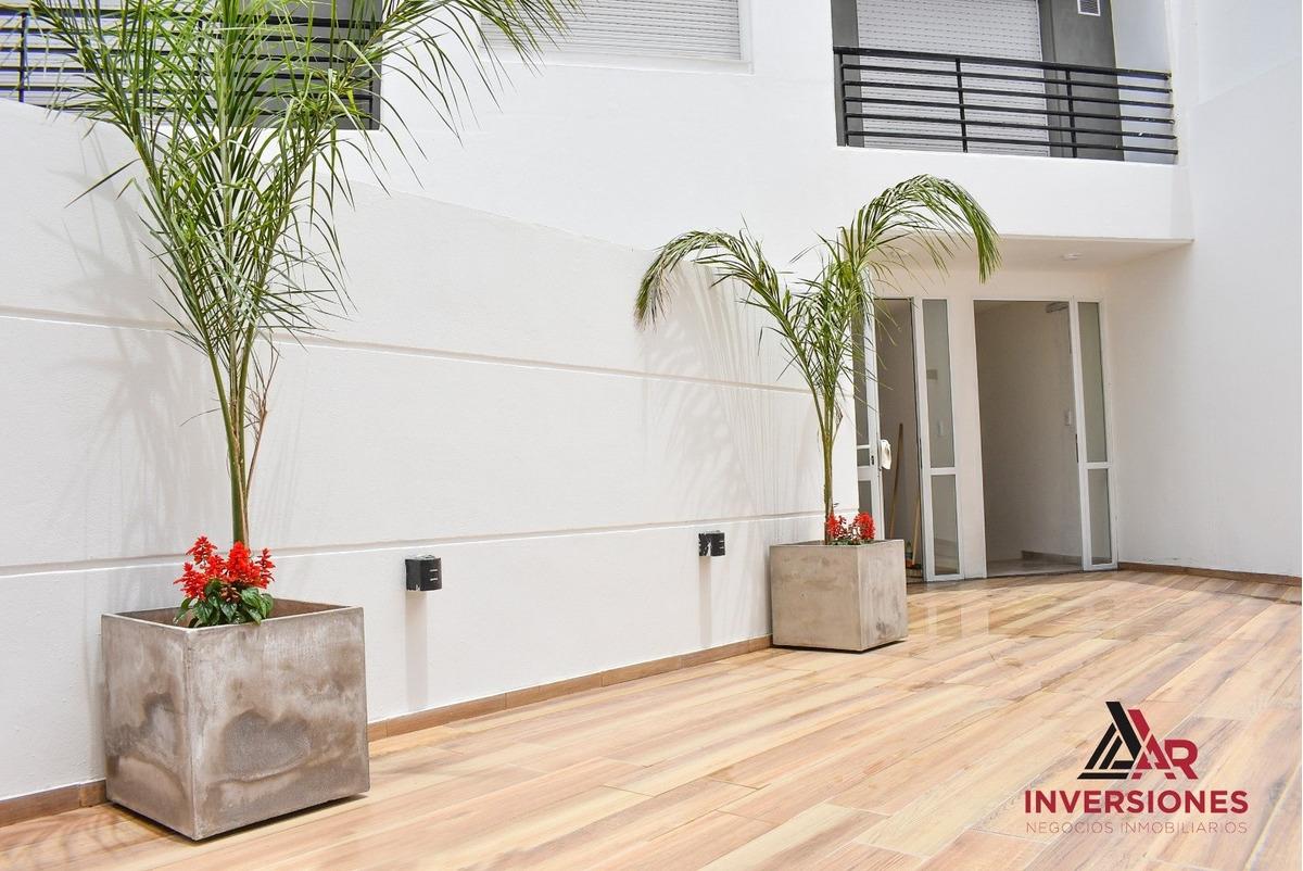 departamento 1 dormitorio a estrenar con balcon - placard con interiores - ubicacion ideal para renta