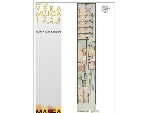 departamento 1 dormitorio al frente (ventilación cruzada) terraza exclusiva 40 m2 (ascensor) vera mujica 1254