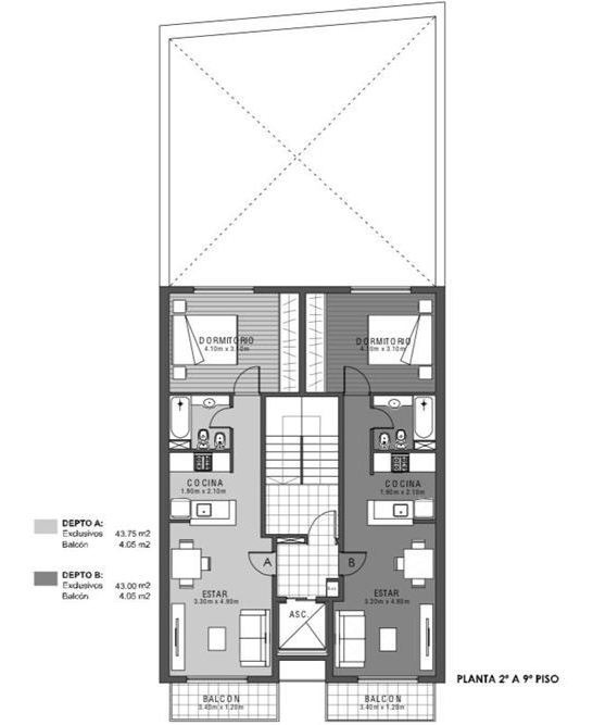 departamento 1 dormitorio c/balcón cordoba al 2600