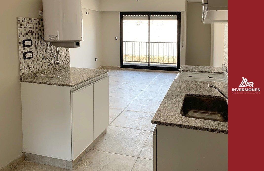 departamento 1 dormitorio - cocina integrada - ventilacion cruzada - balcon - terraza con parrillero