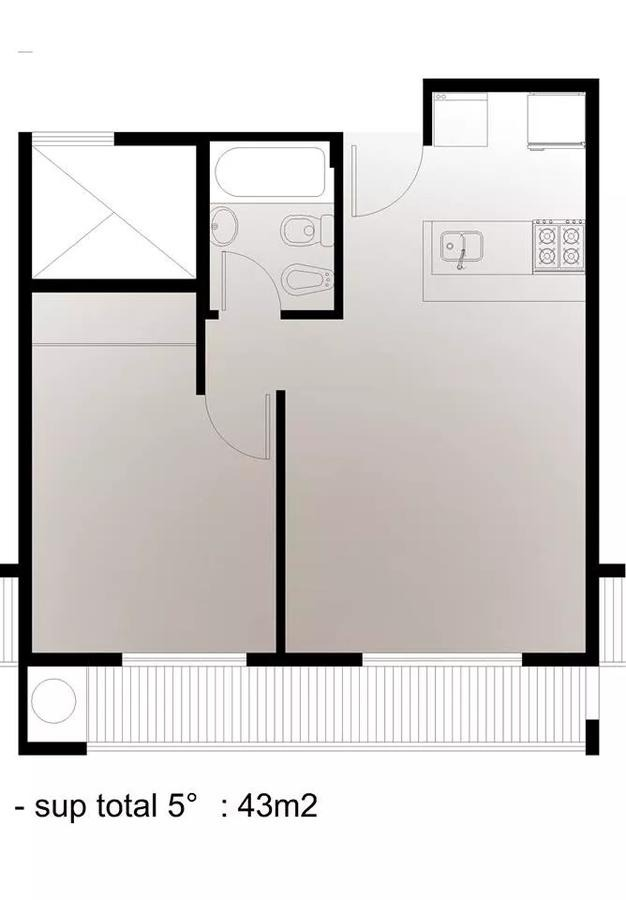 departamento 1 dormitorio con cochera .apta banco - la plata