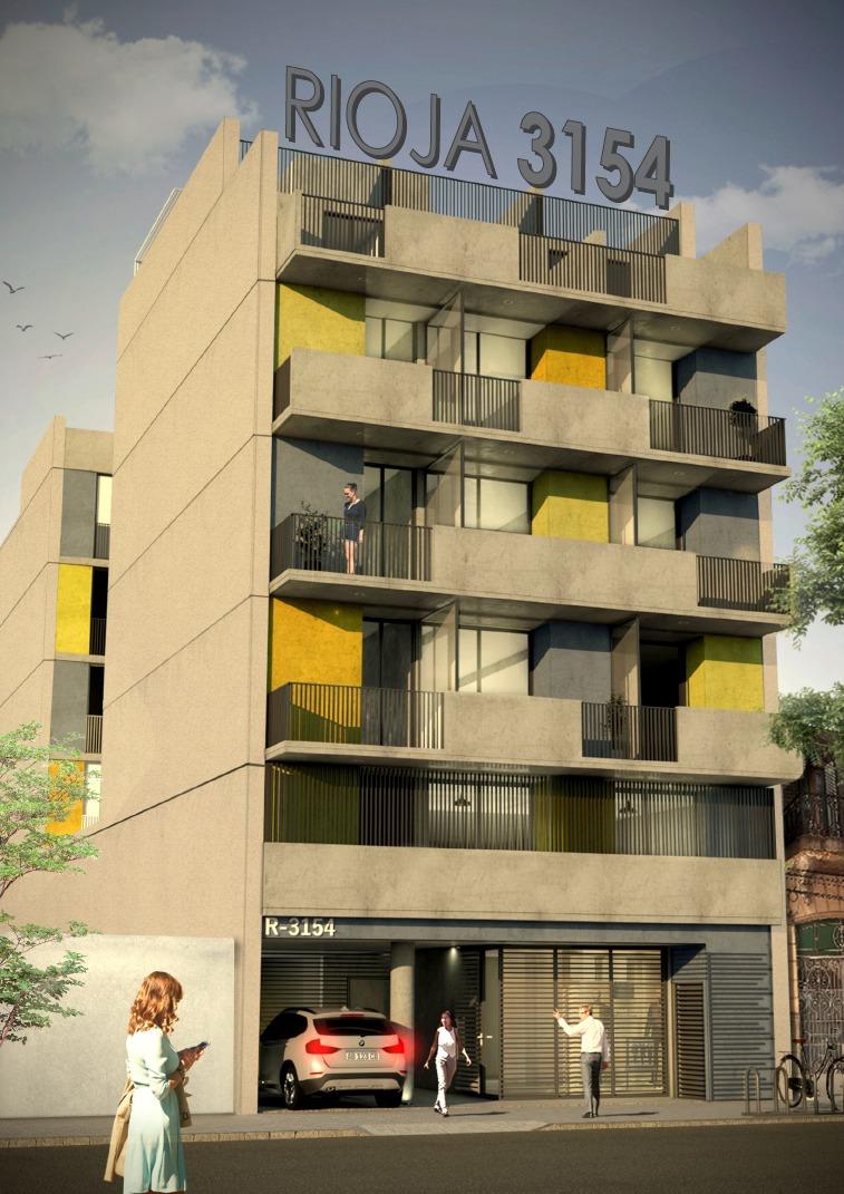 departamento 1 dormitorio con terraza exclusiva con parrillero - financiado - barrio echesortu