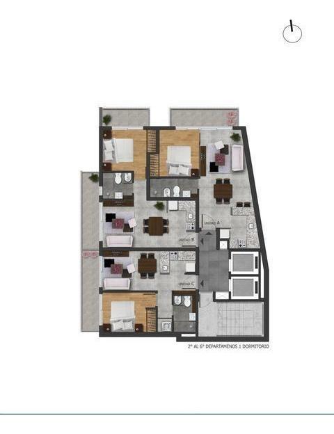 departamento 1 dormitorio en venta - pichincha - rosario