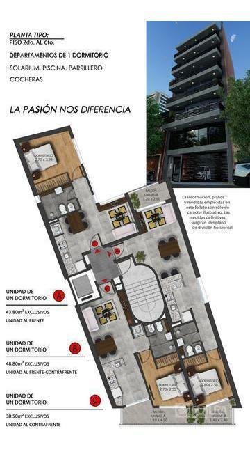 departamento 1 dormitorio en venta - zona imperdible - rosario - pichincha