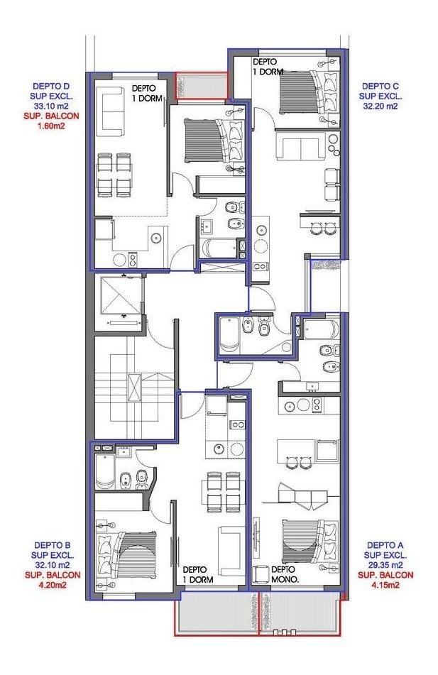 departamento 1 dormitorio oportunidad de invertir zona centro