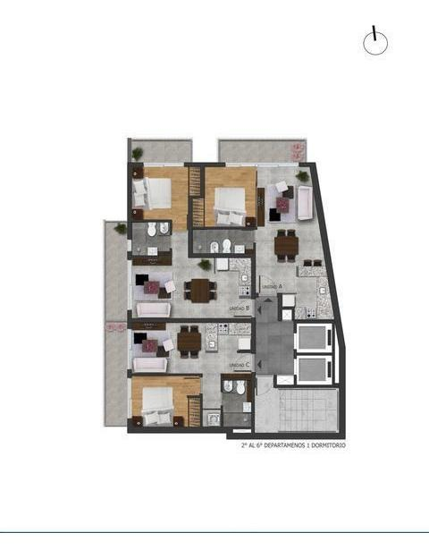 departamento 1 dormitorio premiun a la venta - pichincha - rosario
