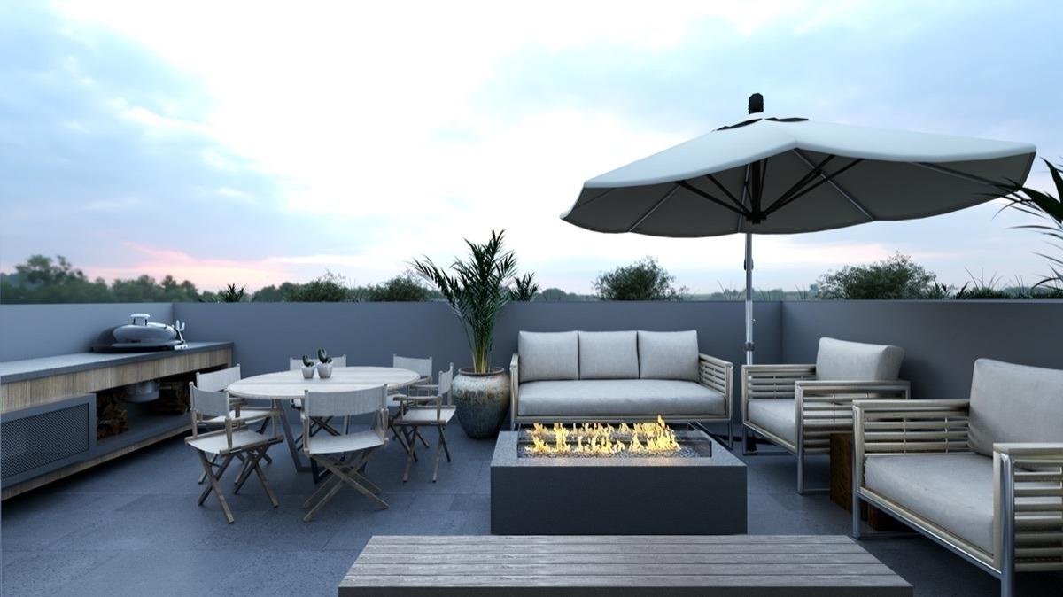 departamento 105 en preventa, 120m2, en la del valle centro, con terraza.