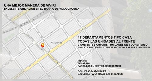departamento 2 amb al frente venta en pozo villa urquiza203