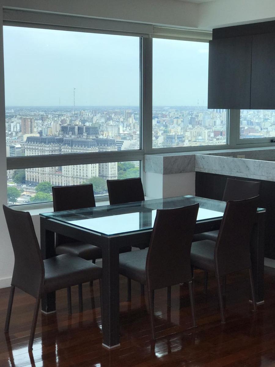 departamento 2 amb amob piso 38 vista rio- torres del yacht