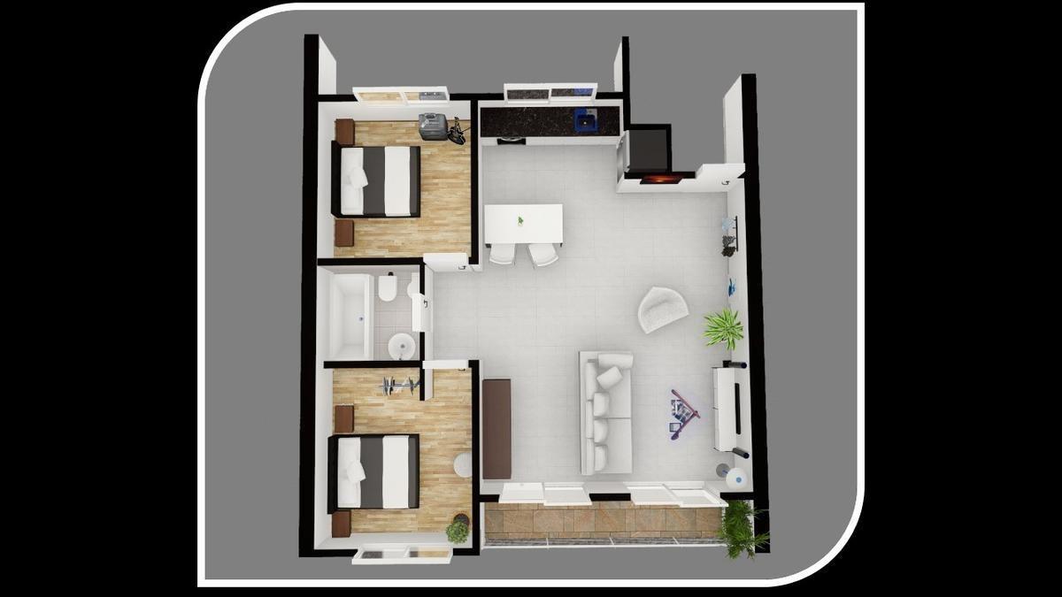 departamento 2 amb. en venta, balcón, terraza privada, cochera - ramos mejia