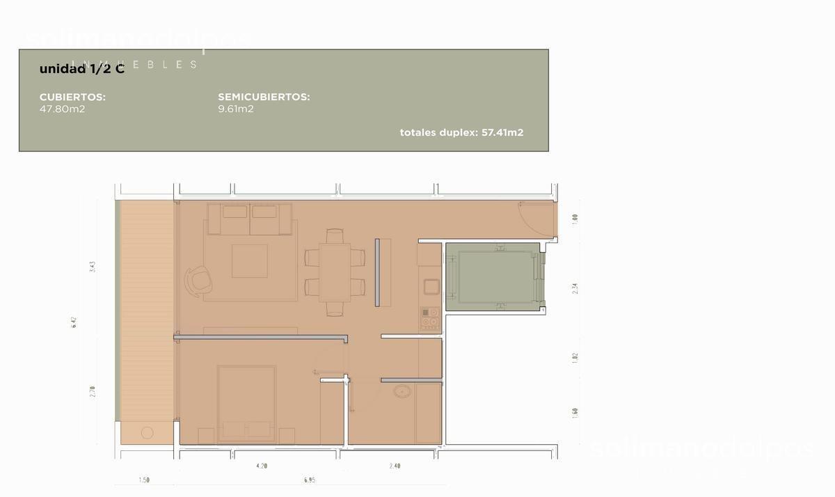 departamento 2 amb - olivos