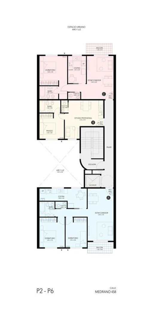 departamento 2 ambientes. almagro. venta