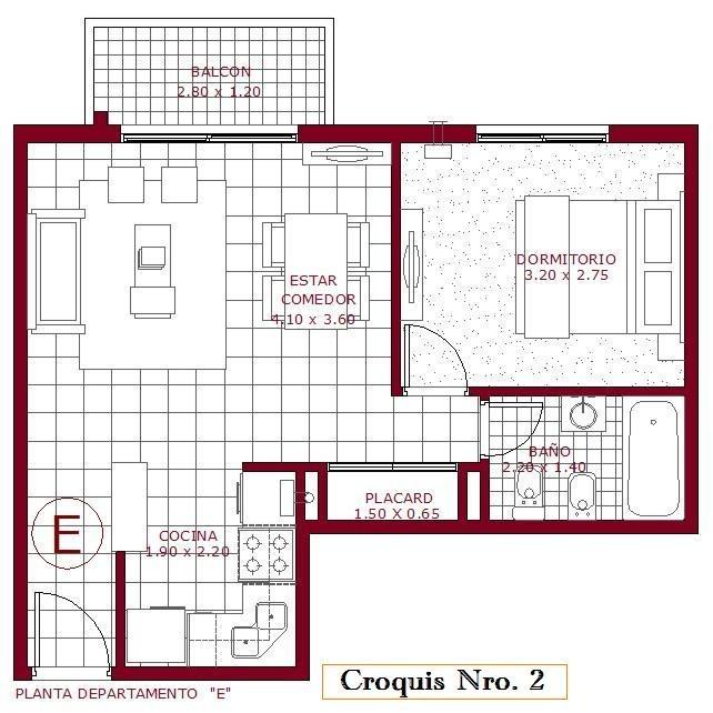 departamento 2 ambientes - alquiler - castelar