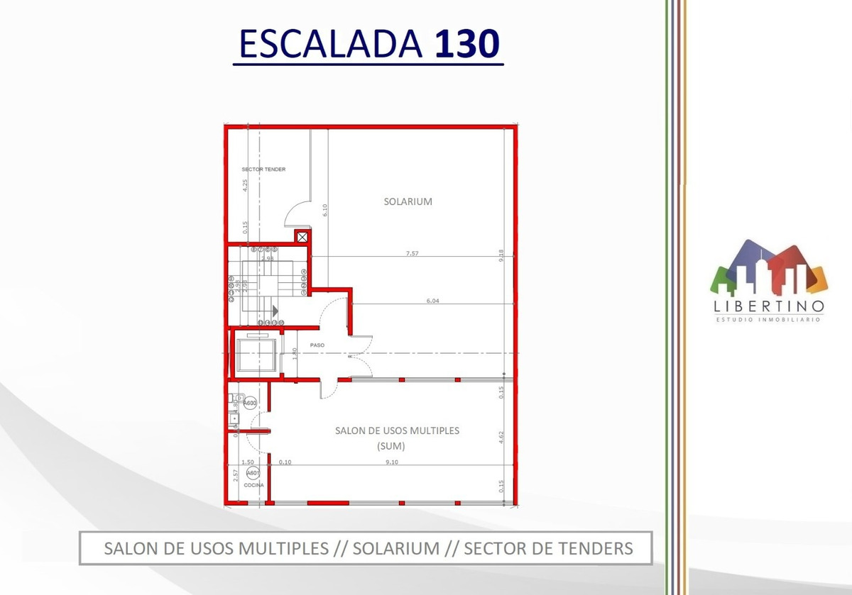 departamento 2 ambientes centrico a estrenar // escalada 130