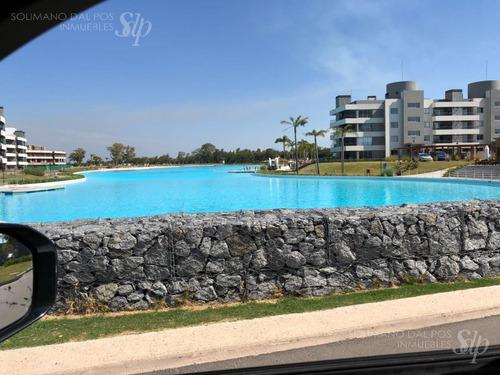 departamento 2 ambientes con jadrin en lagoon pilar
