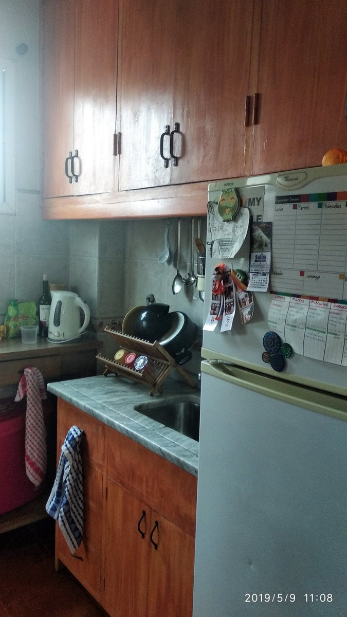 departamento 2 ambientes con patio y parrilla sin exp