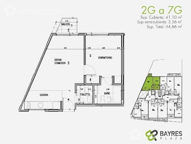 departamento 2 ambientes de categoria // caballito // venta
