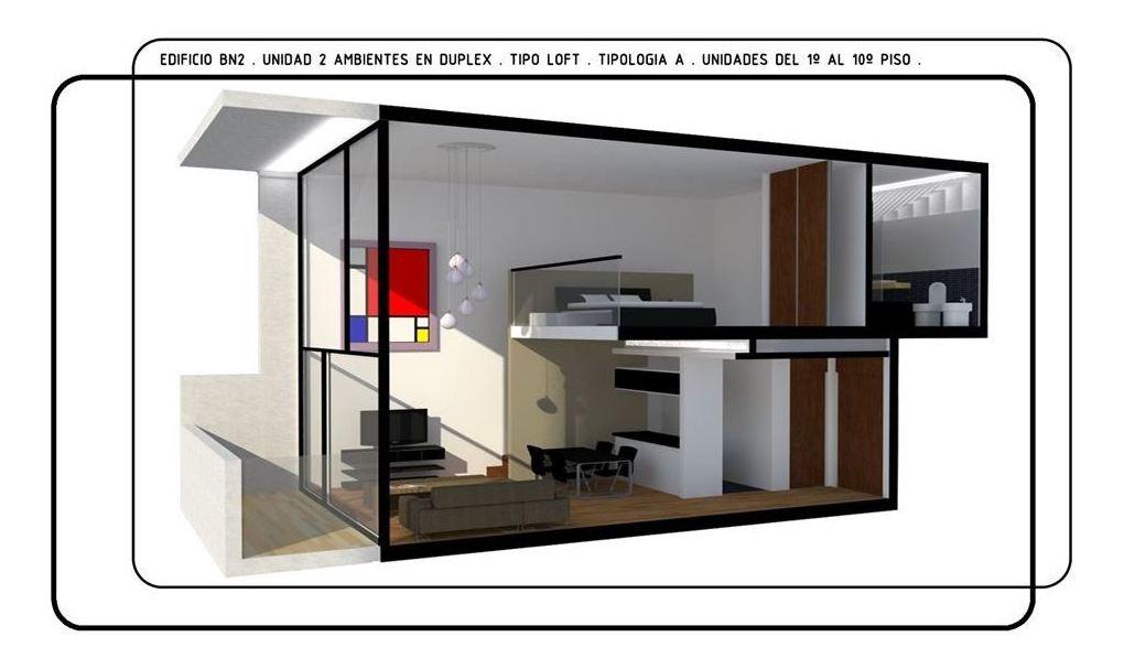 departamento 2 ambientes en duplex - belgrano