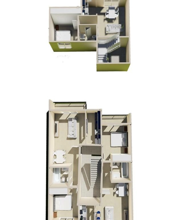 departamento 2 ambientes en pozo