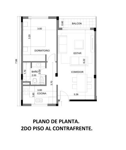 departamento 2 ambientes en venta. construcción. pozo.