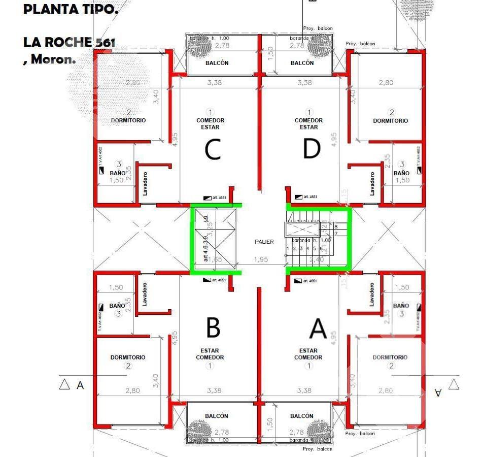 departamento 2 ambientes! financiación