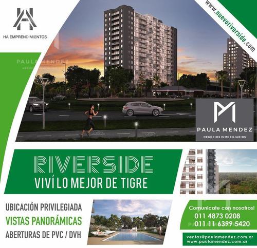 departamento - 2 ambientes - riverside ii -  tigre