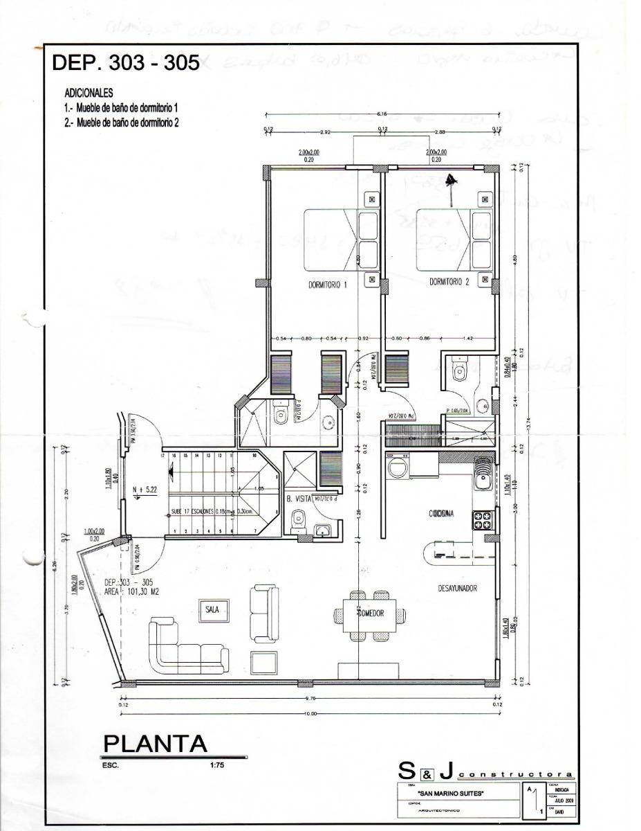 departamento 2 cuartos completos sala comedor
