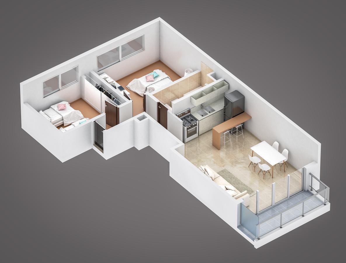 departamento 2 dorm en construcción