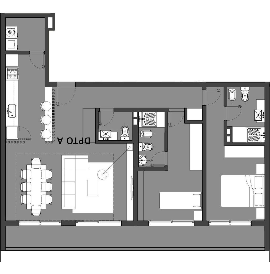departamento 2 dorm torre  alarif