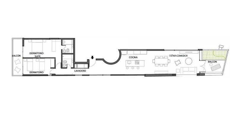 departamento 2 dormitorios - zona rio