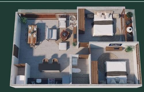 departamento 2 rec colonia hollywood playa del carmen p2742