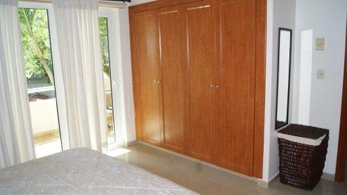 departamento 2 rec con muebles en renta en 5ta avenida playa del carmen palmar del sol p3066