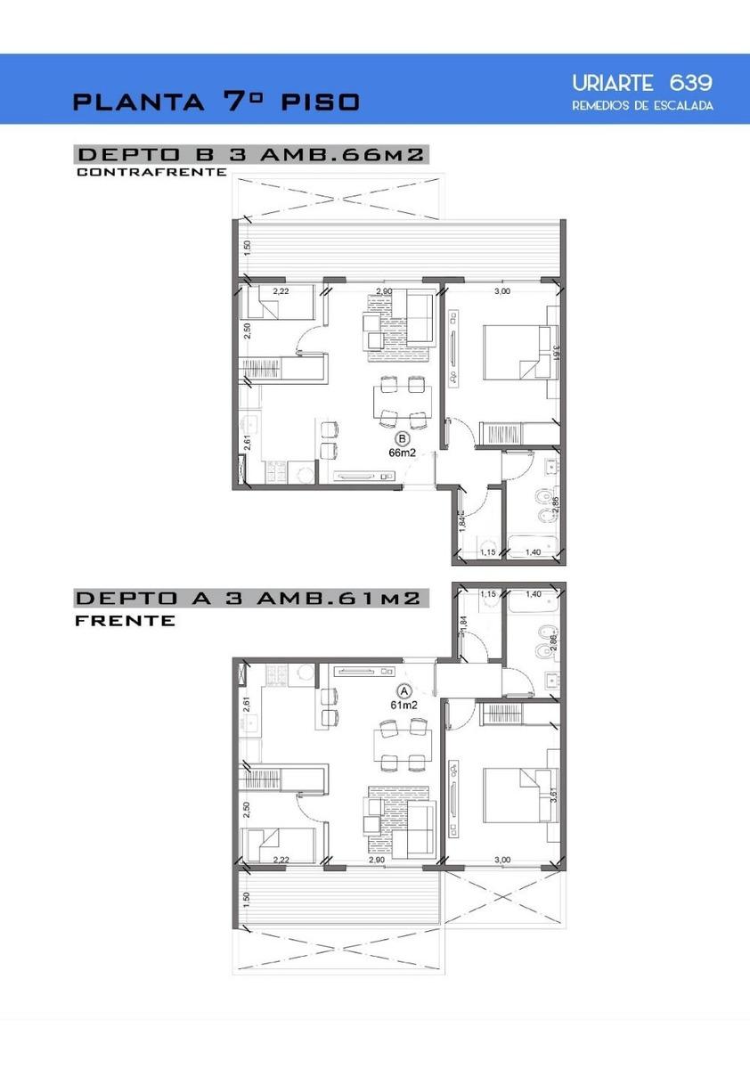 departamento 2 y 3 ambientes de pozo uriarte al 600