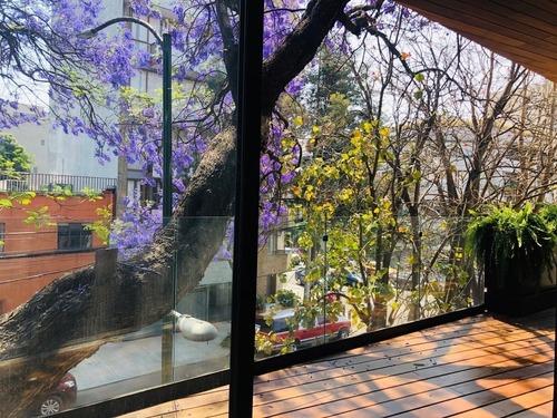 departamento 201 en venta, 3 recámaras, del valle centro,  con terraza y balcón