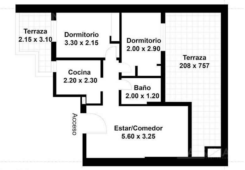 departamento 3 amb con patio - barrio norte