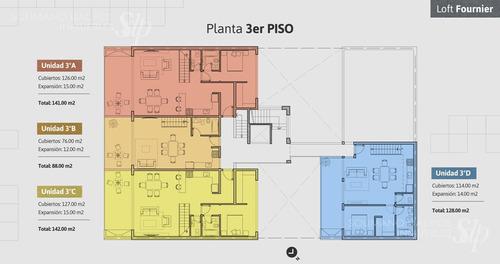 departamento 3 amb de 74 m2 en florida oeste