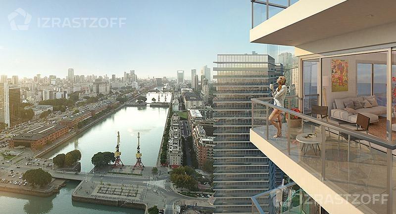 departamento 3 ambientes 121,40 m2 - vista al dique