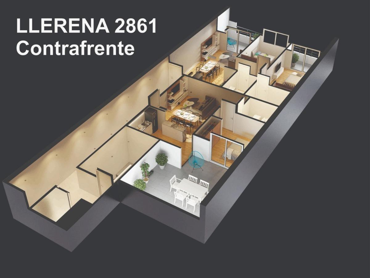departamento 3 ambientes, 2 baños, balcón al frente en const. agosto 2020