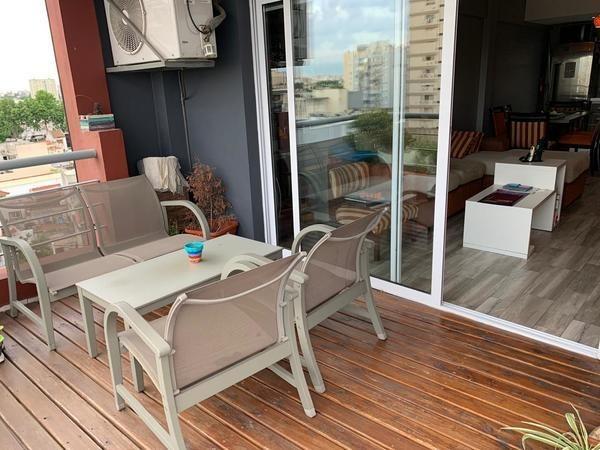departamento 3 ambientes al frente con balcón terraza y cochera monte castro
