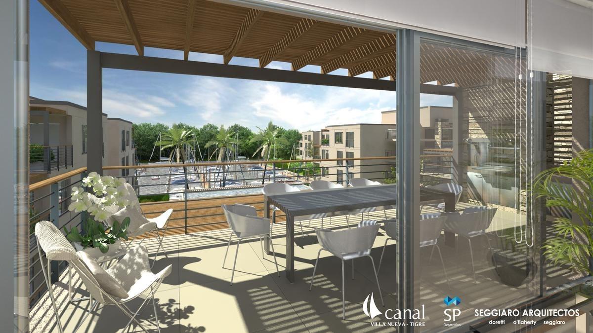 departamento 3 ambientes al rio con amarra - villa nueva