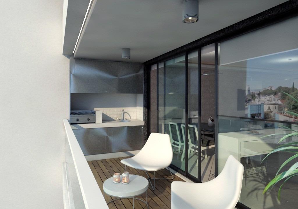 departamento 3 ambientes,  edificio en obra