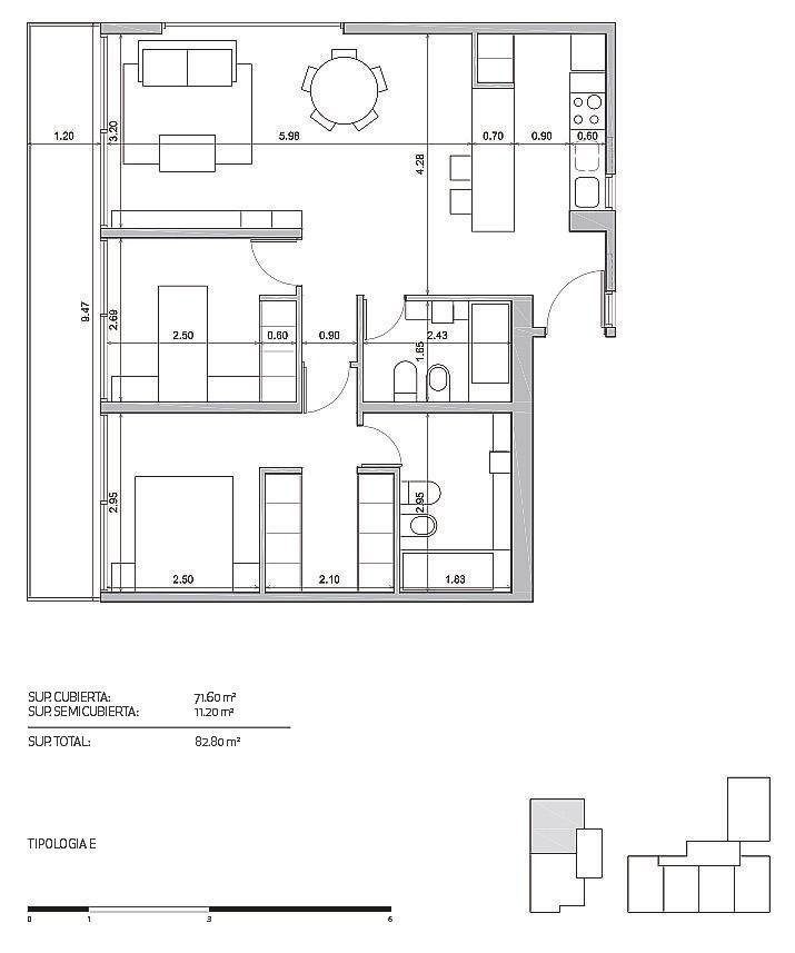 departamento 3 ambientes . suite con vestidor. san martin  cochera opcional. piso 3ºe