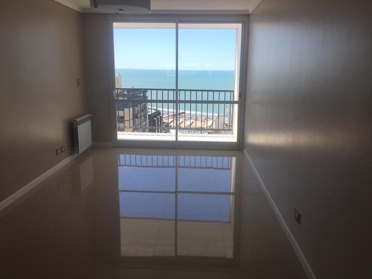 departamento 3 ambientes vista plena al mar y cochera en venta en mar del plata