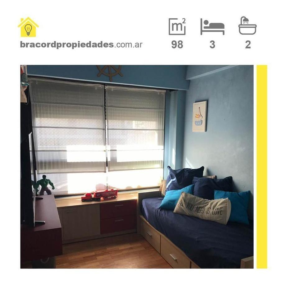 departamento 4 amb. balcón c/parrilla - cochera -  amenities