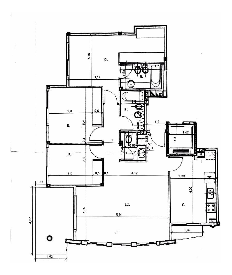 departamento 4 ambientes  almagro   h. yrigoyen 4170