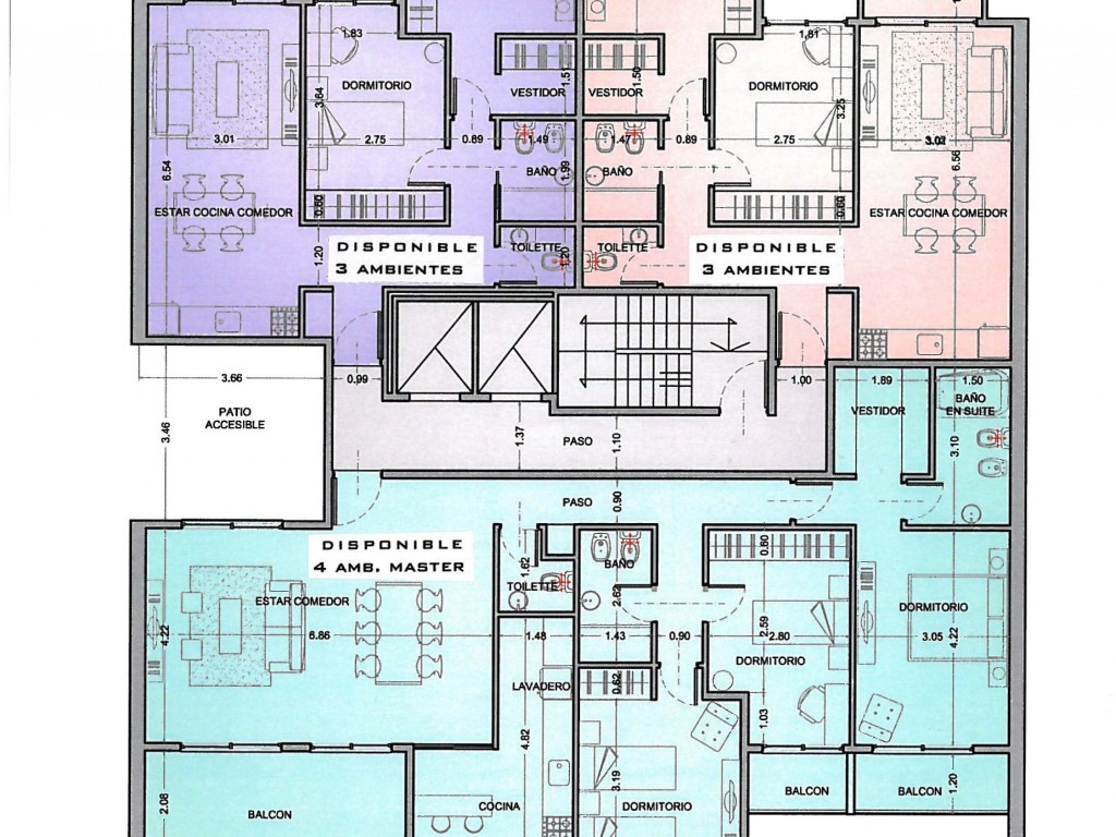 departamento 4 ambientes con 4 cocheras