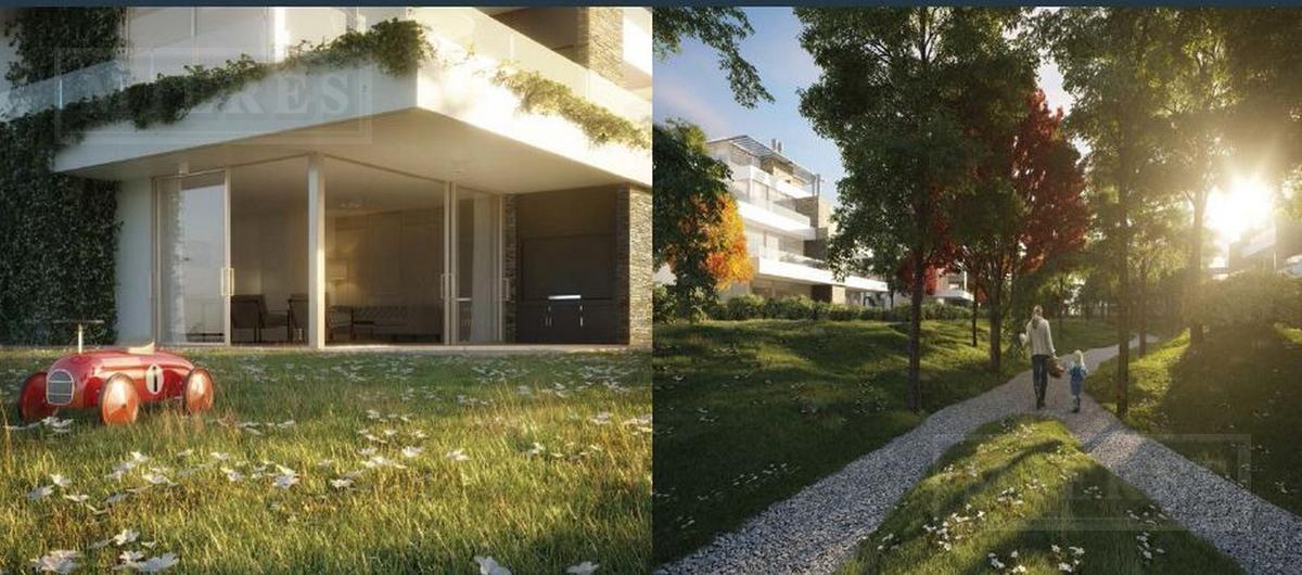 departamento 4 ambientes con jardín - balconada, castaños, nordelta - anticipo u$ y cuotas $   cac